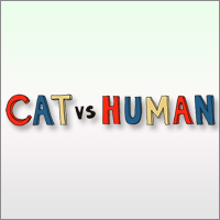 Cat vs Human is a funny minimalistic comics that illustrates everyday scenarios that every cats owner can instantly relate to.