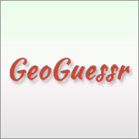 Geoguessr is an online interactive geography trivia game using Google street view.